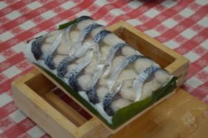 完成した鯖寿司