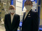 岩倉市長が新築の岩倉ライスセンターを視察されました