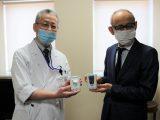 3/17 江南厚生病院「地域・農業活性化活動助成」生体モニター送信機の贈呈式をおこないました
